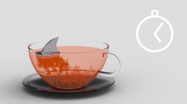 おしゃれな茶こし(ティーストレーナー):サメ