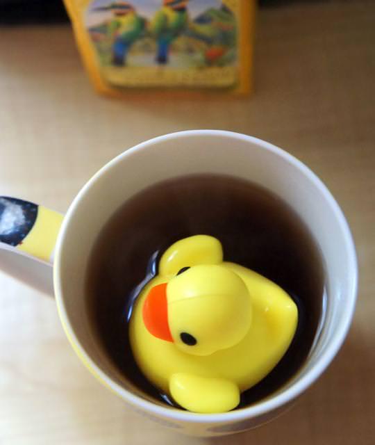 おしゃれな茶こし(ティーストレーナー):アヒル
