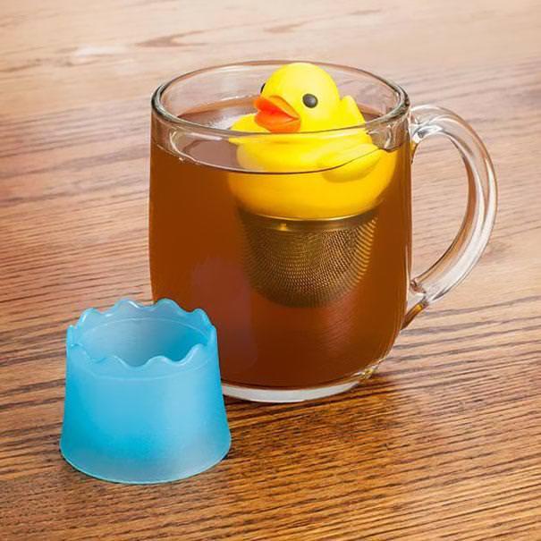 おしゃれな茶こし(ティーストレーナー):黄色いアヒルちゃんの茶こし