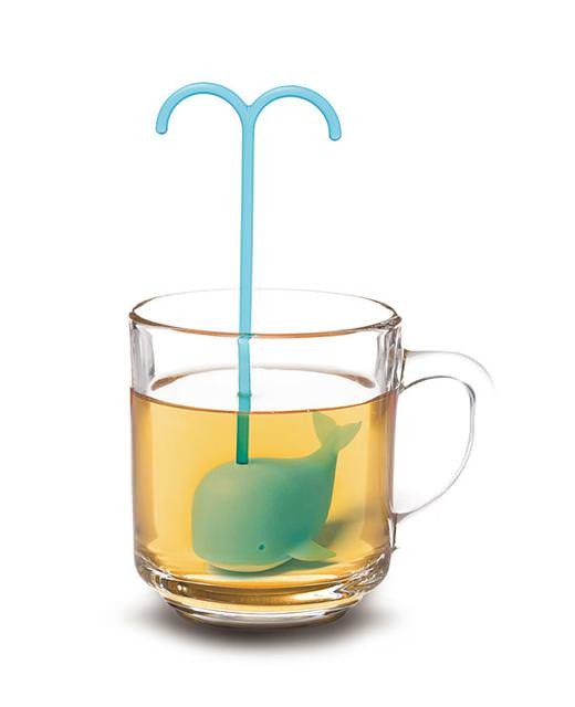 おしゃれな茶こし(ティーストレーナー):潮吹きクジラ