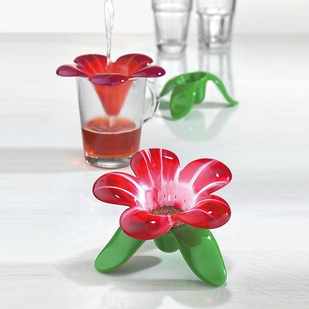 おしゃれな茶こし(ティーストレーナー):花びら