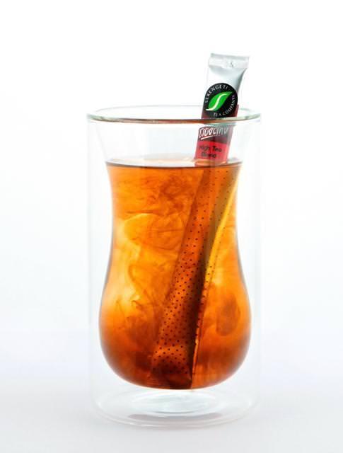 おしゃれな茶こし(ティーストレーナー):袋入り粉末飲料