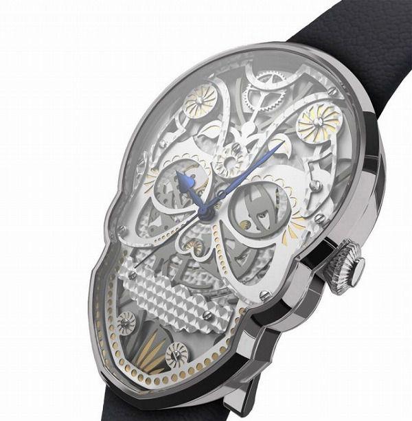 スケルトンのガイコツ腕時計