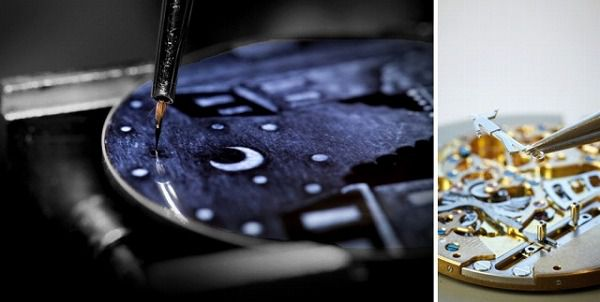 パリの夜空をモチーフにした腕時計