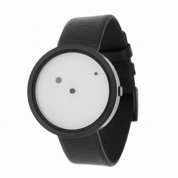 点だけで時刻が表示される腕時計
