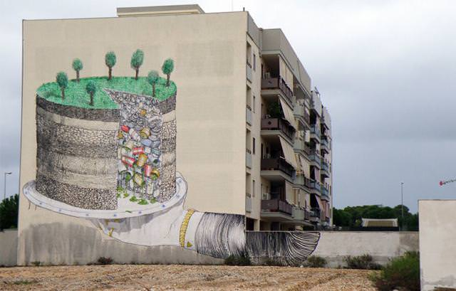 環境問題の風刺画:ゴミ埋立地に建設された夢の島