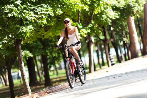 サイクリングで健康美