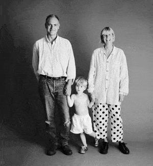 仲良し家族のタイムスリップ写真(1994年)