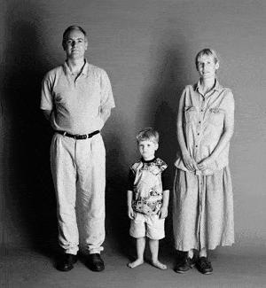 仲良し家族のタイムスリップ写真(1995年)