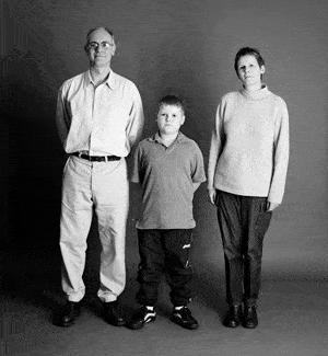 仲良し家族のタイムスリップ写真(1999年)