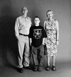仲良し家族のタイムスリップ写真(2001年)