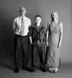 仲良し家族のタイムスリップ写真(2002年)