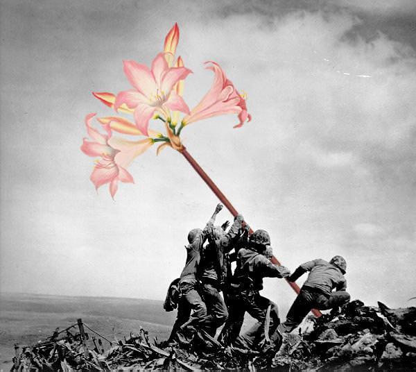 銃に花を咲かせる、平和への願い1