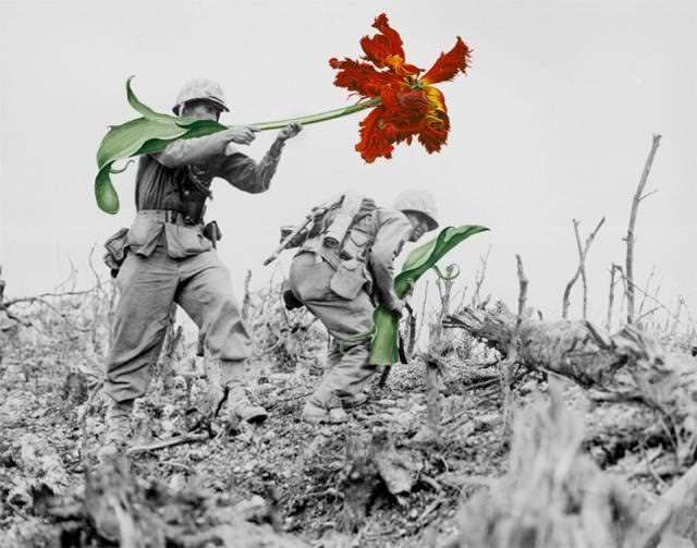 銃に花を咲かせる、平和への願い3