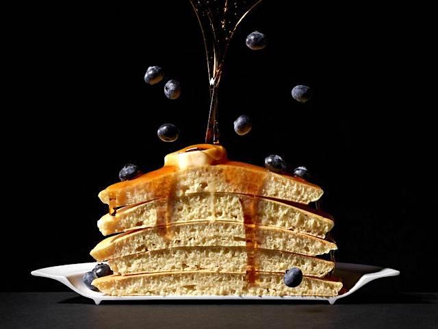 パンケーキの断面写真