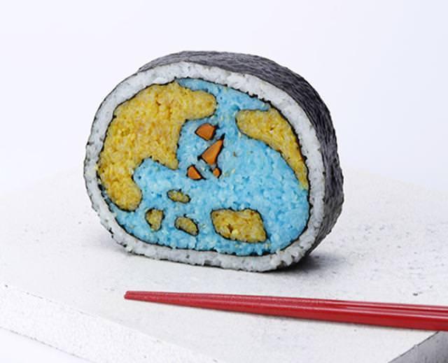 巻き寿司アート1:地球