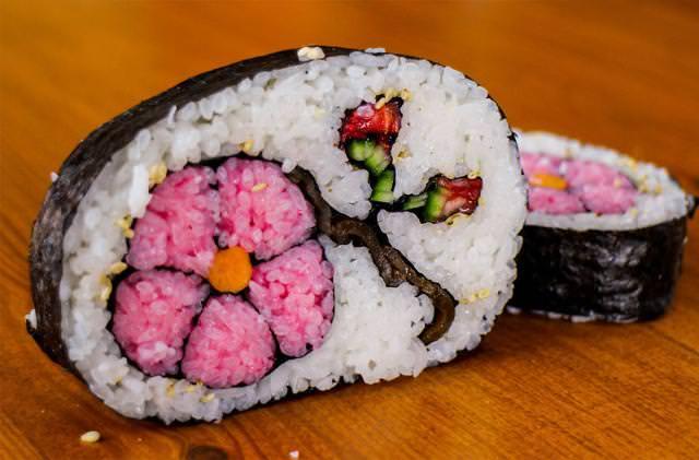 巻き寿司アート2:花