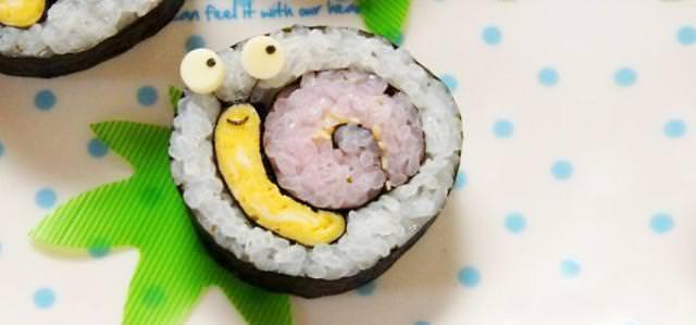 巻き寿司アート4:かたつむり