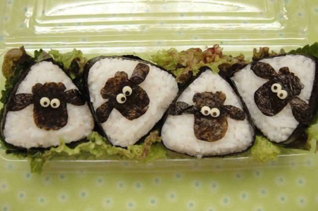 巻き寿司アート6:羊