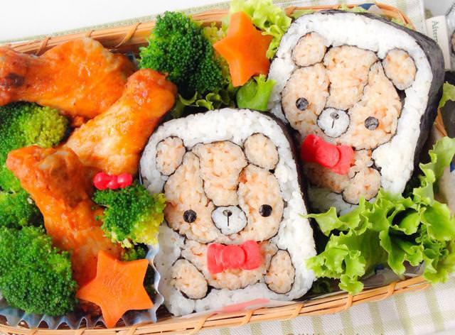 巻き寿司アート8:ぬいぐるみのクマ