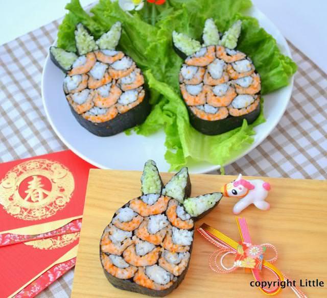 巻き寿司アート9:パイナップル