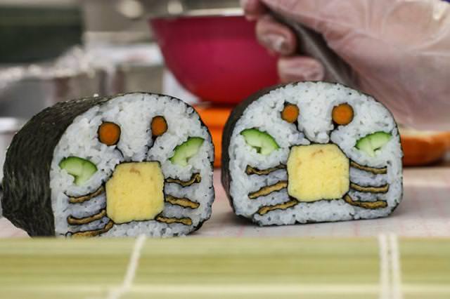 巻き寿司アート16:カニ