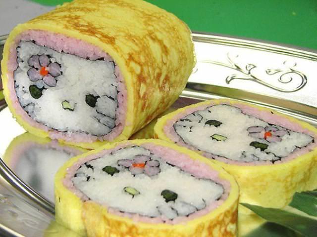巻き寿司アート18:ハローキティ