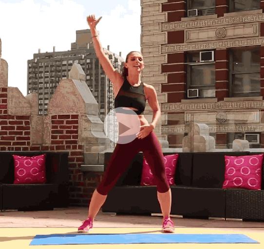 ダイエット運動メニュー3:肘と腰のクランチ