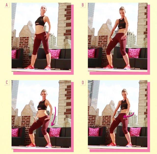 ダイエット運動メニュー8:胸とお尻を動かす