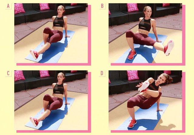 ダイエット運動メニュー9:脚の水平移動