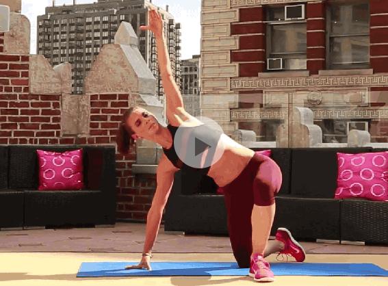 ダイエット運動メニュー12:体を横に倒す