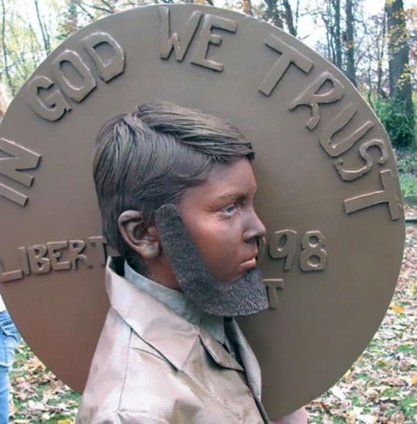 アブラハム・リンカーン(1セント硬貨)の仮装