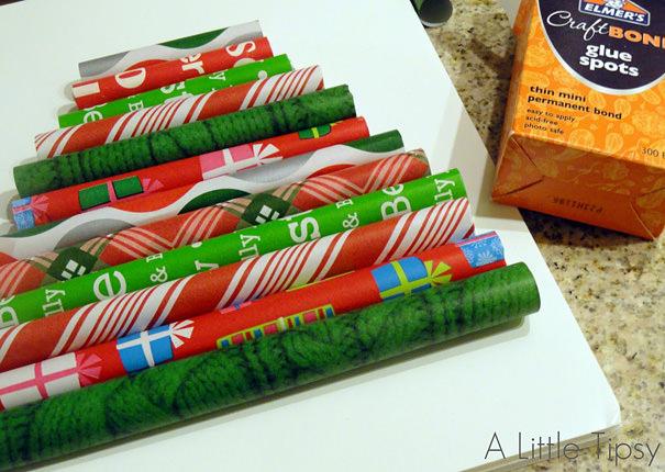 ラッピングペーパー(包装紙)のクリスマスツリー