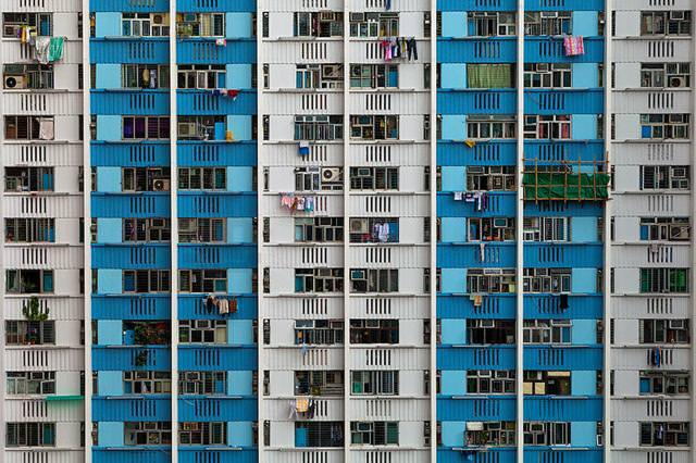 香港のビル群:Ping Shek Estate(Wong Tai Sin)