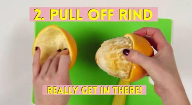 オレンジの正しい食べ方(皮の剥き方)
