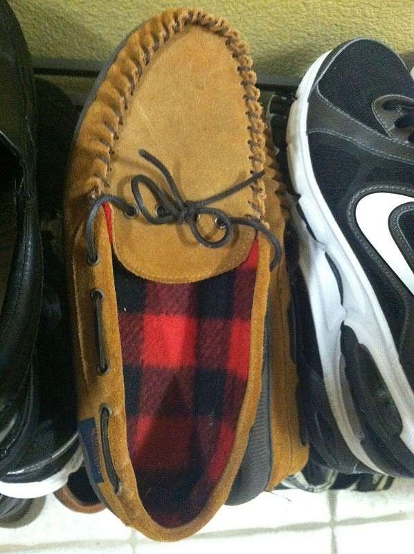 顔に見える靴
