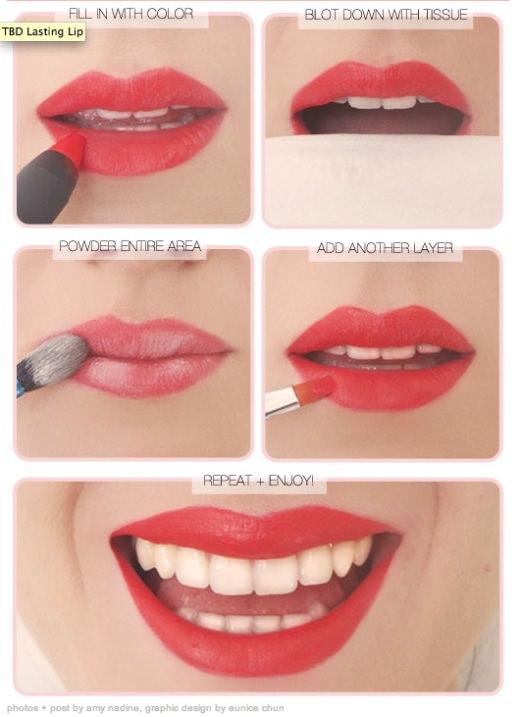 メイクの裏技:官能的で情熱的な唇へ仕上げる