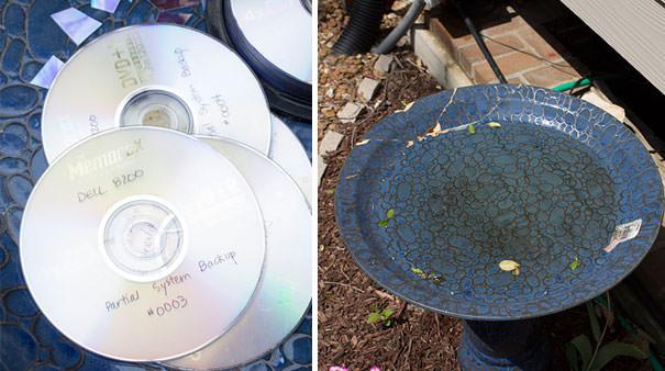 CD工作(リサイクル):モザイク模様のお皿