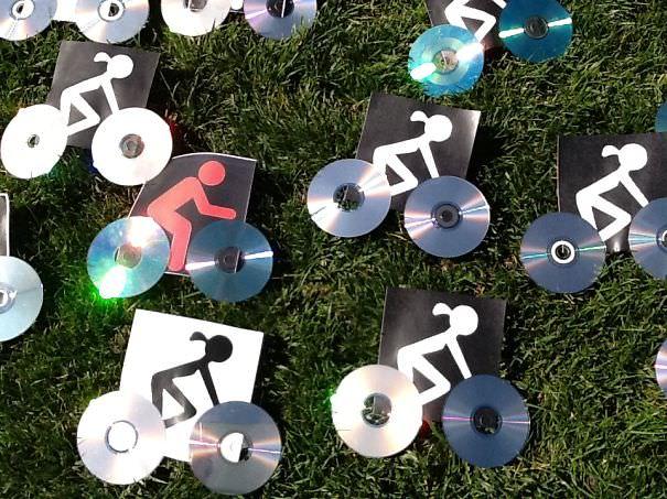 CD工作(リサイクル):自転車競技イベントのお知らせ