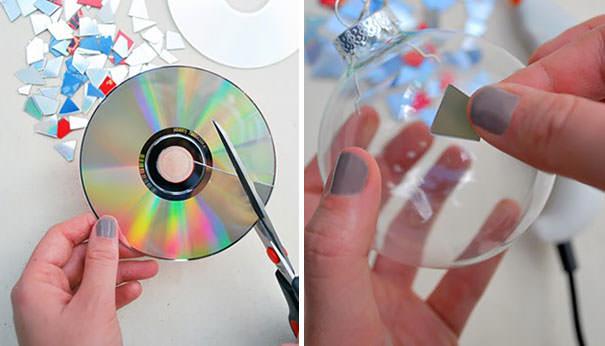 CD工作(リサイクル):オーナメントのデコレーション