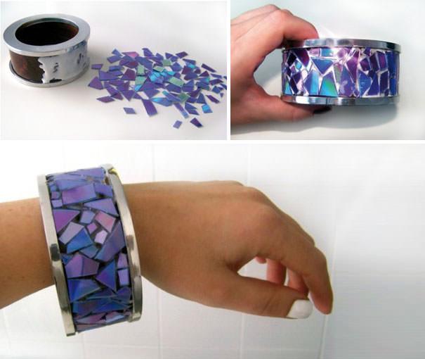 CD工作(リサイクル):手作りブレスレット
