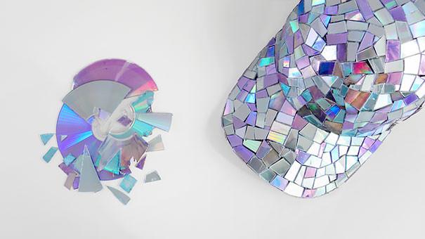 CD工作(リサイクル):注目を浴びそうな帽子