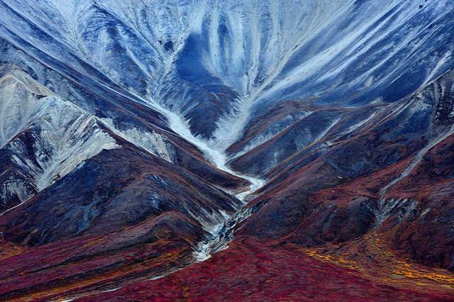 マッキンリー山の古代氷河