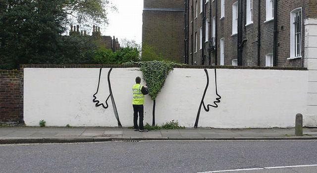 上手いストリートアート:股間のお手入れ