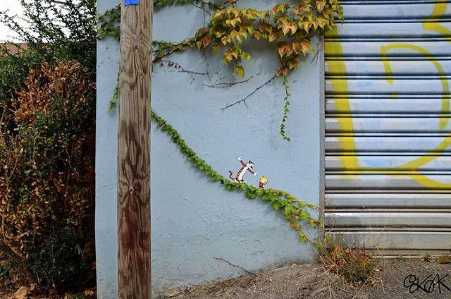 上手いストリートアート:ティガーとプーさん
