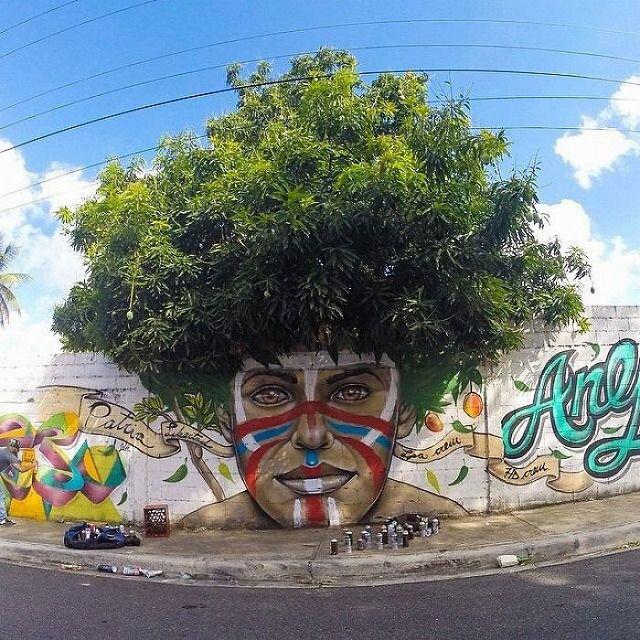 上手いストリートアート:レスラー