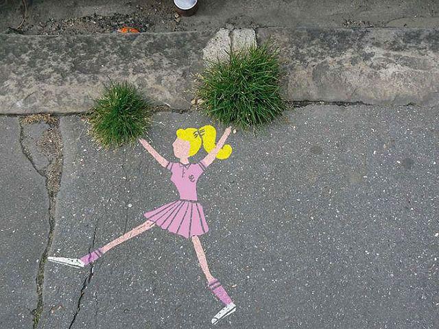 上手いストリートアート:チアリーダー