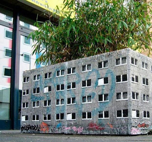 上手いストリートアート:小さな廃ビル