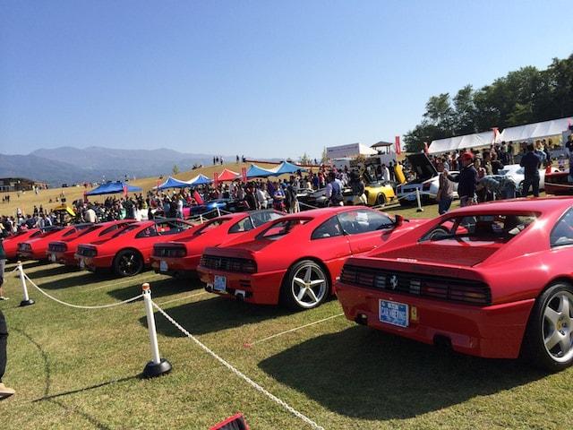 フェラーリの大群