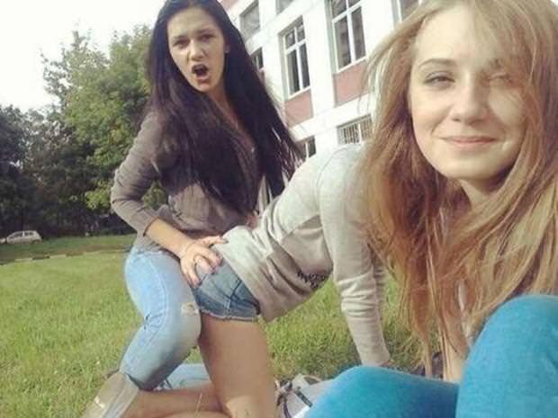 目の錯覚の面白写真:イロイロとビックリな女の子たち